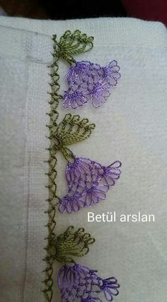 Marvelous Crewel Embroidery Long Short Soft Shading In Colors Ideas. Enchanting Crewel Embroidery Long Short Soft Shading In Colors Ideas. Crochet Motifs, Crochet Borders, Crochet Stitches, Embroidery Needles, Crewel Embroidery, Embroidery Patterns, Needle Tatting, Needle Lace, Baby Knitting Patterns