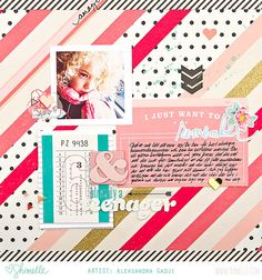 paper: pretty paper. true stories. {and scrapbooking classes with cupcakes.}: More colourful scrapbooking with the Shimelle collection