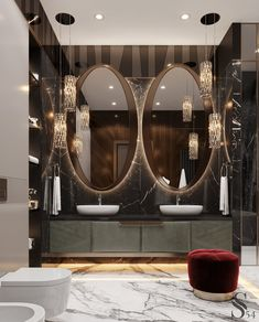 Роскошные апартаменты в Тбилиси Washroom Design, Vanity Design, Toilet Design, Bathroom Design Luxury, Luxury Homes Interior, Luxury Apartments, Home Design Living Room, Modern Baths, House Design