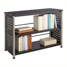 Safco Scoot 2 Shelf Bookcase ($164) ❤ liked on Polyvore featuring home, furniture, storage & shelves, bookcases, black, book-shelves, book case, black book shelves, 2 tier bookcase and mobile file cart