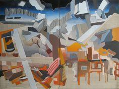 'Destructie' ('Destruction') -  Olieverf op doek (Oil on canvas) -  160 cm x 120 cm (63.00 in x 47.24 in) -  28 april 2015 (Apr 28, 2015) -   (schildering 16)