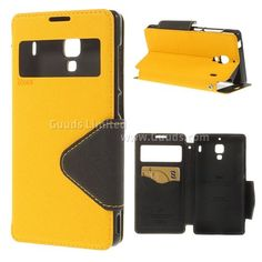 Roar Korea Diary View Flip Cover for Xiaomi Redmi / Red Rice Hongmi / Hongmi 1s / Redmi 1s - Yellow - Redmi 1s Leather Case, Redmi Leather Case, Xiaomi Homgmi 1s Leather Case, Red Mi 1s Leather Case - Guuds Online Wholesale - Mobile Phone Accessories - Mobile Parts from China