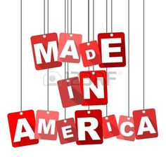 Vector illustration background. Made in America.