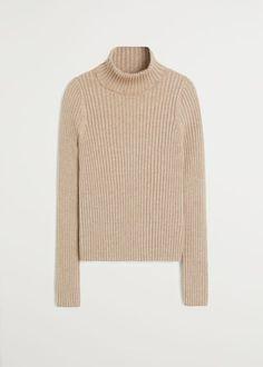 De beste basisstukken voor in je garderobe - Scandi Style Ribbed Fabric, Roll Neck, Rib Knit, Scandinavian, Mango, Recycling, Sweaters For Women, Turtle Neck, Girly