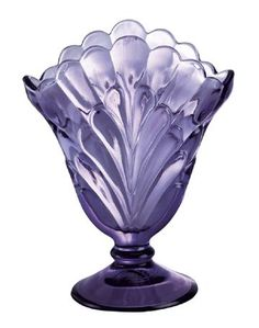 Vase / Violet in color. Fenton Glassware, Vintage Glassware, Vintage Perfume, Cut Glass, Glass Art, Vases, Purple Glass, Purple Art, Stained Glass Designs