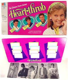 Heart Throb board game- I JUST got rid of this, hahahaa!!!  When I was moving  to Keene, Luke and I were looking at all the guy cards, laughing :)