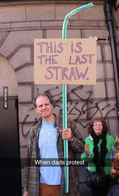 When dads protest #funny