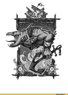#Dota2 Dota Art,Dota,фэндомы,Leviathan the Tidehunter