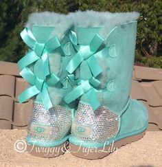 Crystal Ugg Boots made with Swarovski by TwiggyAndTigerLily
