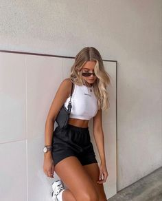 Trendy Summer Outfits, Cute Casual Outfits, Spring Outfits, Vintage Summer Outfits, Sporty Outfits, Girly Outfits, Casual Summer, Stylish Outfits, Mode Outfits