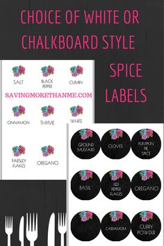 Spring Cleaning: Organizing the Spices {two free spice label downloads} savingmorethanme.com
