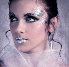 Full Face Glitter Makeup Ideas | full body photography glitter on full body photography glitter on face ...