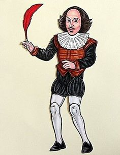 Ardently-Crafted-Shakespeare-Articulated-Paper-Doll-with-Quill-and-Detachable