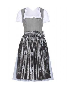 #lanz - mytheresa.com exclusive mieder dirndl with grete blouse and printed silk apron