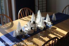 Ashbee Design: A Winter Centerpiece • Birch and Pinecones