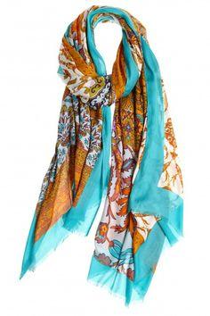 Multi Print Modal Silk Blend Scarf     Calypso St. Barth