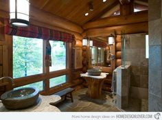 15 Bathroom Designs of Rustic Elegance.. the other bathrooms are gorgeous. This one is not so representative of my idea of rustic elegance.
