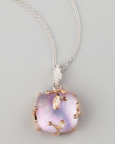 Frederic Sage  Lavender Vine Amethyst & Diamond Pendant Necklace