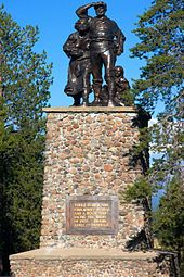 Statue at Donner Memorial  The Donner Party (sometimes called the Donner-Reed Party) was a group of American pioneers led by George Donner and James F. Reed who set out for California in a wagon train in May 1846. Delayed by a series of mishaps and mistakes, they spent the winter of 1846–47 snowbound in the Sierra Nevada. Some of the pioneers resorted to cannibalism to survive.