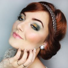 Wedding Boho via #inka2504 Fall makeup trends. Gorgeous eyes! - bellashoot.com