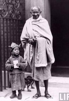 Ghandi and HH XIV Dalai Lama