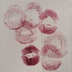 Whenever I see lip prints, I think of my mom because when I was a little girl and she left the house while I was napping, she'd write ...