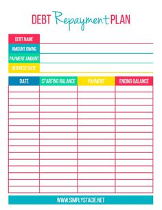 debt payoff planner free printable frugal living pinterest