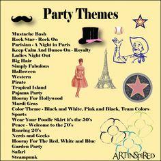 List Of Bunco Themes