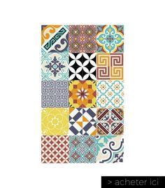tapis imitation carreaux de ciment Beija Flor