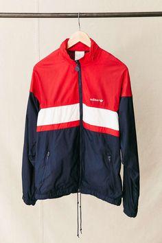 Vintage adidas Red White + Blue Windbreaker Jacket