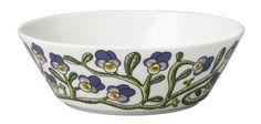 Finland Arabia Keto Orvokki Cereal Bowl for sale Beltane, Cereal Bowls, Wonderful Things, Scandinavian Style, Pansies, Finland, Kitchen Dining, Plant Leaves, Artisan