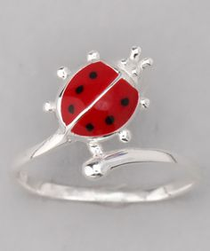 Take a look at this Sterling Silver Ladybug Baby Ring by Shine Bright: Girls' Jewelry on #zulily today!
