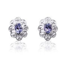Silver and Tanzanite Earrings R832  *Prices Valid Until 25 Dec 2013