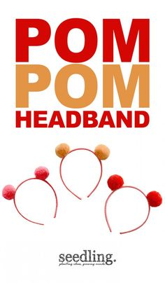 Three cheers for these pom pom headbands!