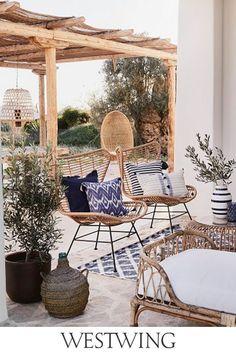 French Kitchen Decor, Modern Farmhouse Decor, Decoration Inspiration, Interior Inspiration, Outdoor Living, Outdoor Spaces, Outdoor Decor, Ibiza, Gardens