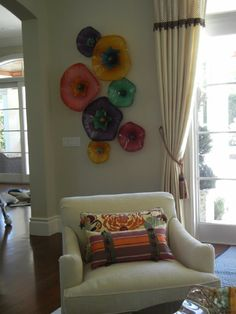 I *love* these huge decorative blown glass art flowers! : blown glass flower wall art - www.pureclipart.com