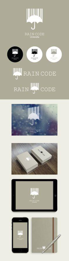 logo idea/ other color-white  Simple Rain Code  (Logo Design By Conoi)