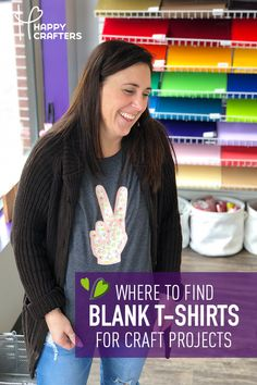 Not sure where to find blank shirts, bags, totes, and more for your craft vinyl projects? Happy Crafters now carries a wide range of blank apparel! Use alongside your HTV & Silhouette Cameo or CriCut Explore Air 2!