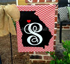 Custom Personalized Garden Sign Georgia State