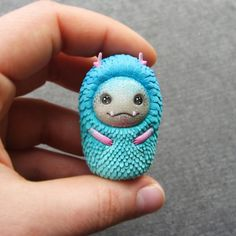 Cute kawaii Monster FIGURINE by 3fabst on Etsy