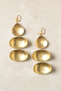 Triple Dipper Earrings via Anthropologie.com, women's accessories, jewelry