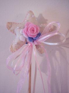 Magic Wand for Little Princesses  Felt Pink