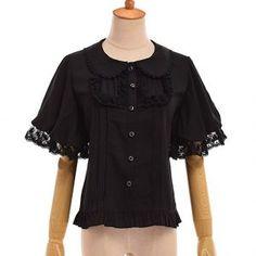 GRACEART Victorian Puff Sleeve Chiffon Shirt Blouse