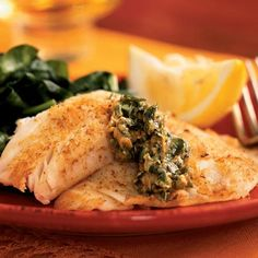 Skillet Fillets with Cilantro Butter Recipe | Any mild white fish such as cod, flounder, or orange roughy would also be delicious in place of tilapia. Serve these brightly flavored fillets with sautéed spinach or a green salad.