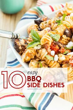 No backyard BBQ is complete without tasty food, and we've got 10 Easy BBQ Side Dishes to add plenty of variety to your grilling season! #grilling #sidedish #salads #bbq