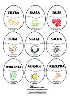 Pisanki z rymami Nauczycielskie zacisze. Early Education, Kids Education, Easter Worksheets, Polish Words, Cute Coloring Pages, Speech Therapy, Diy For Kids, Blog, Google