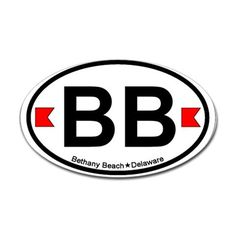 Bethany Beach DE - Oval Design. Decal on CafePress.com