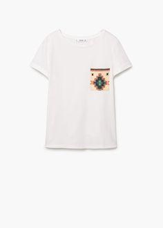 Koszulka z kieszenią | MANGO