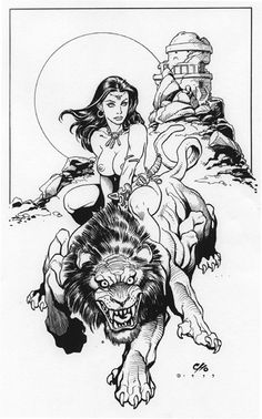 Dejah Thoris by Frank Cho. This guy is incredible, no?
