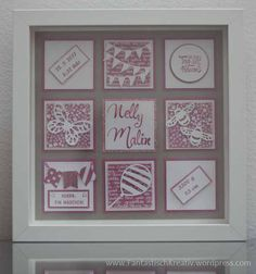 Picture frame for the birth Baby Presents, New Baby Gifts, Birth Pictures, White Box Frame, Wedding Picture Frames, Ribba Frame, Baby Memories, Stamping Up Cards, Box Frames